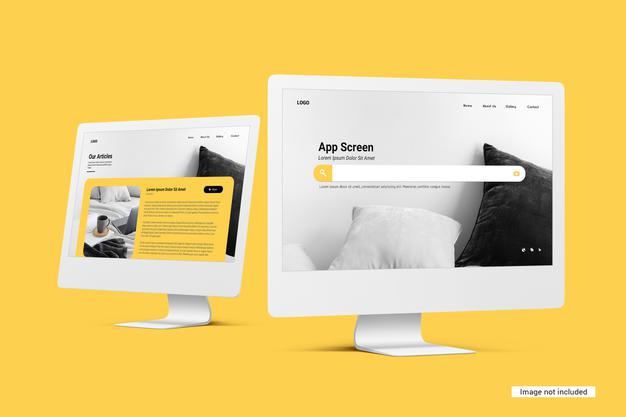 Free Unicolor Desktop Mockup