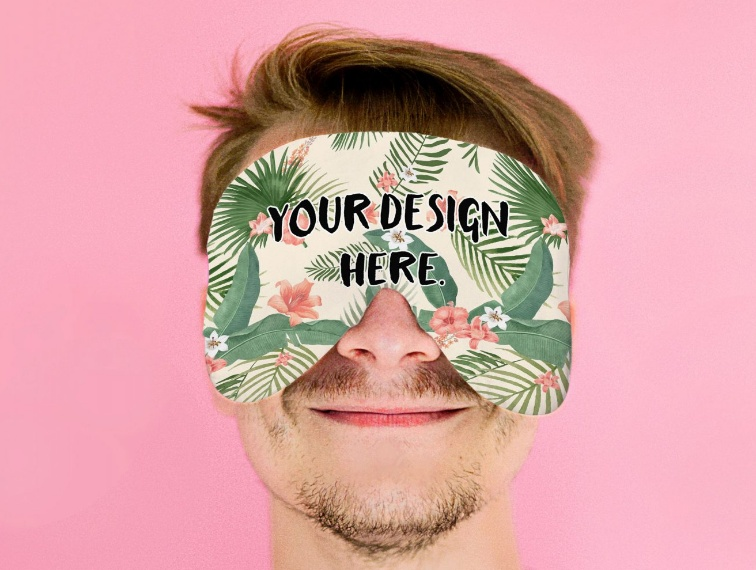 Free Unique Face Mask Mockup