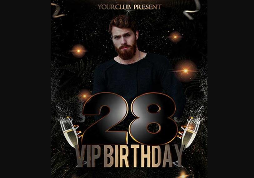 Free VIP Birthday Flyer