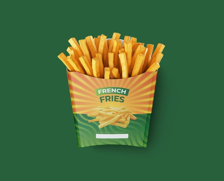 20+ Free French Fries Packaging Mockup PSD Download