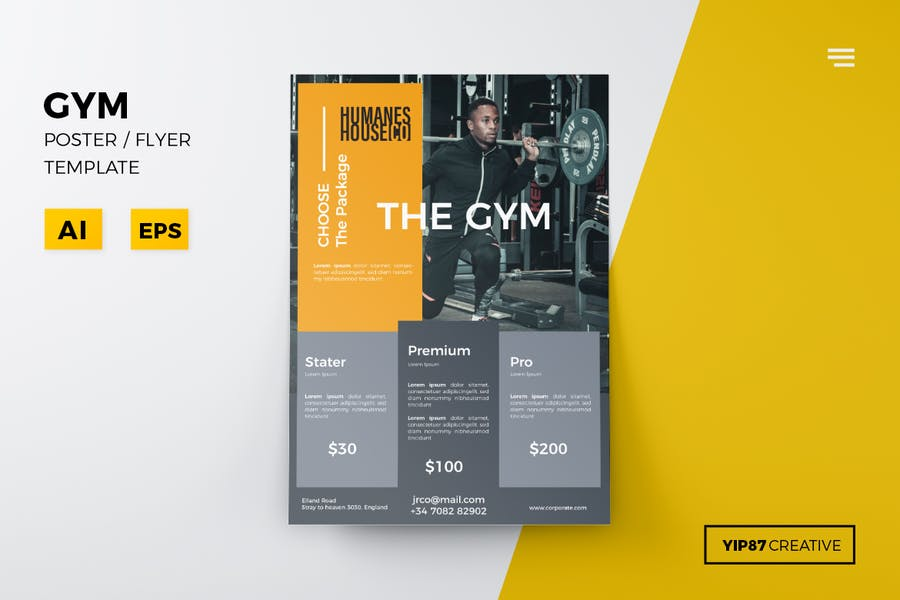 Fully Editable Fitness Flyers