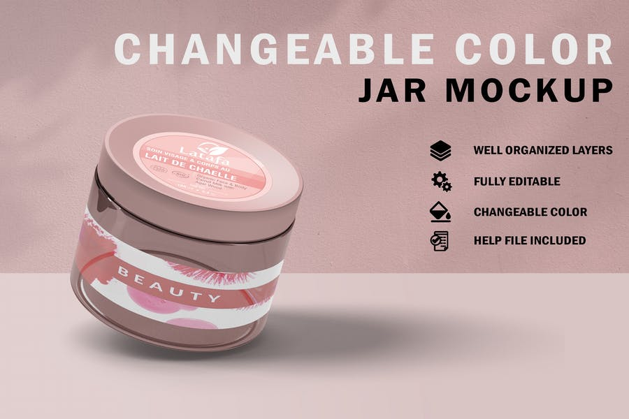 Fully Editable Jar Mockups