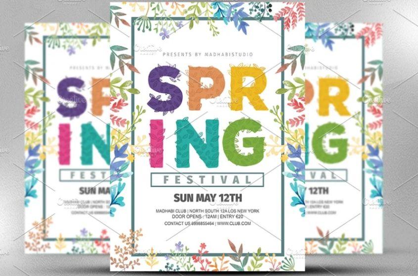 Fully Editable Spring Flyers