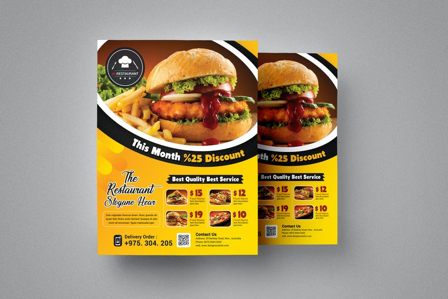 Fully Layered Grill Flyer