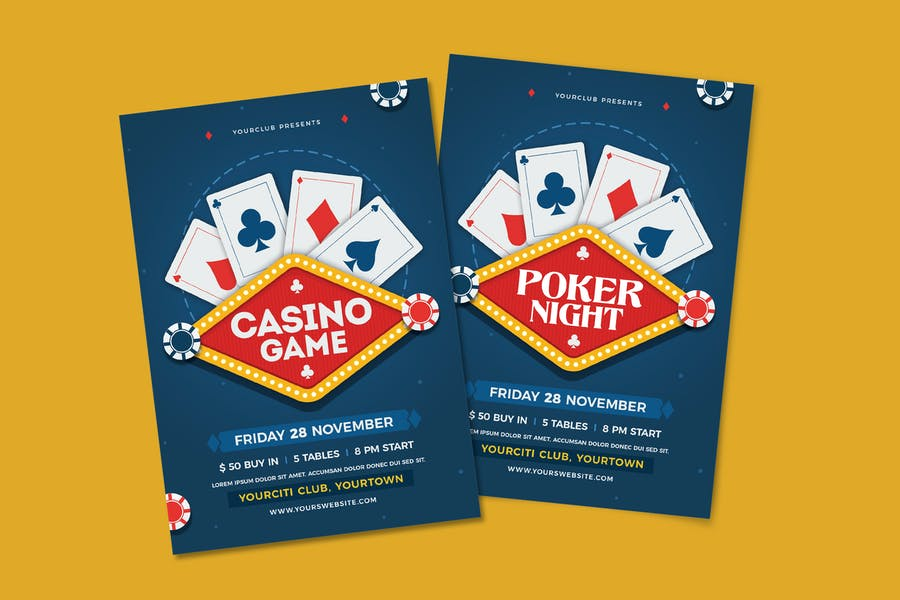 Fully Layered Poker Poster Template
