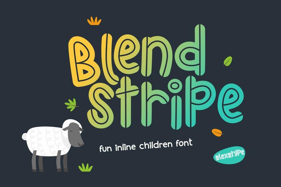 Funny Inline Children Typeface
