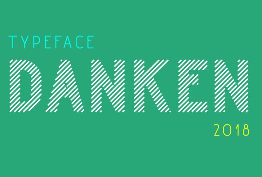 Funny Stripe typeface