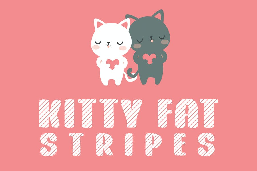 Funny Striped Fonts