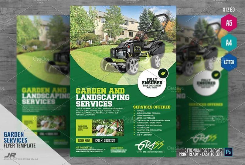 Gardening Ad Flyer Template