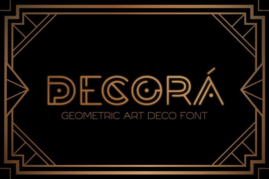 Geometric Art Deco Typeface