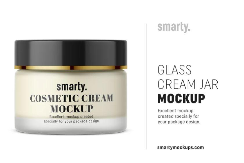 Glass Cream Jar Mockups