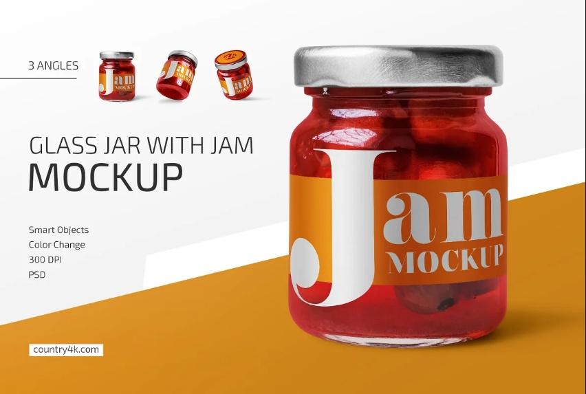 Glass Gam Jar Mockup PSD