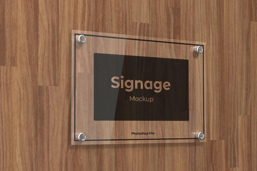 Glass Signage Logo Mockups