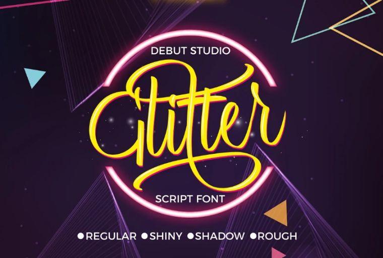 Glitter Script Typeface