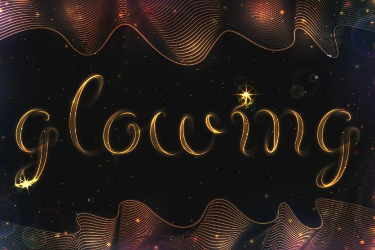 Glowing Metal Style Fonts