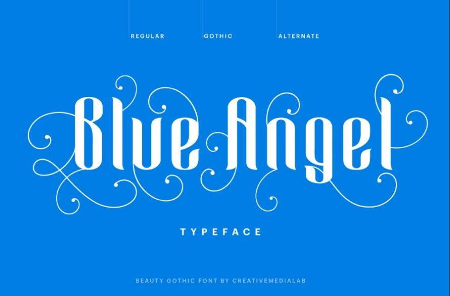 Gothic Angel Style Typefaces