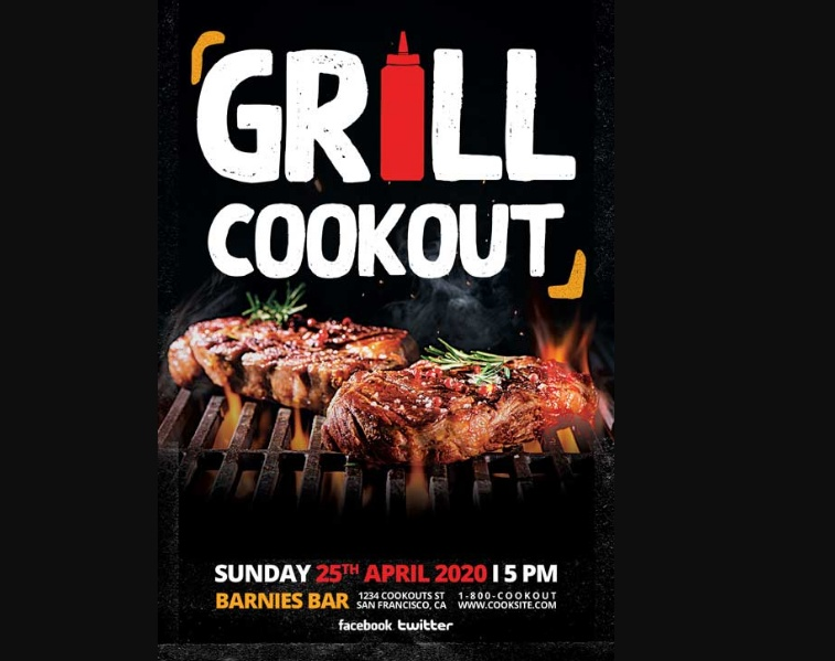 Grill Cookout Flyer