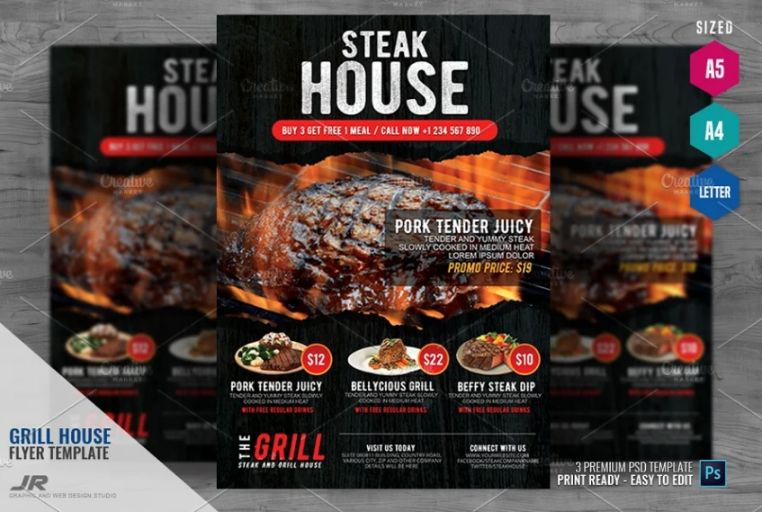Grill House Flyer Template