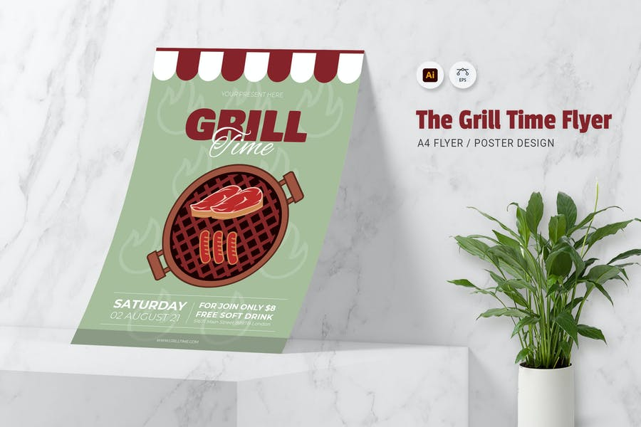 Grill Promotional Flyer Templates