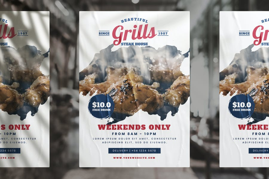 Grill Store Promotional Flyer