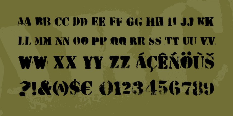 Grunge Army Fonts