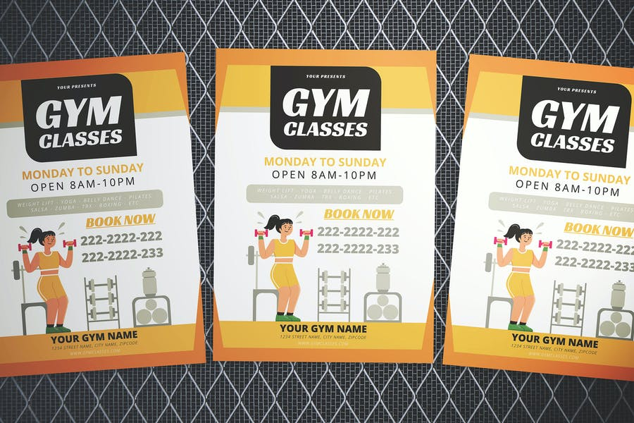 Gym Classes Flyer Template