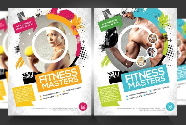 Gymnasium Promotional Flyer Templates
