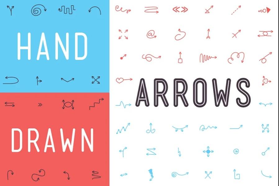 Hand Drawn Arrow Fonts