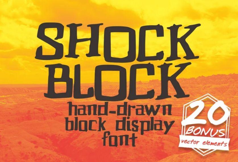 Hand Drawn Shock Block Typeface