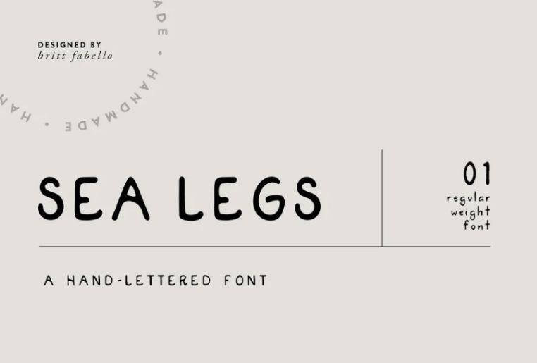 Hand Lettered Ocean Fonts