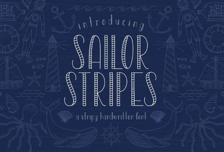 Hand Lettered Stripe Fonts