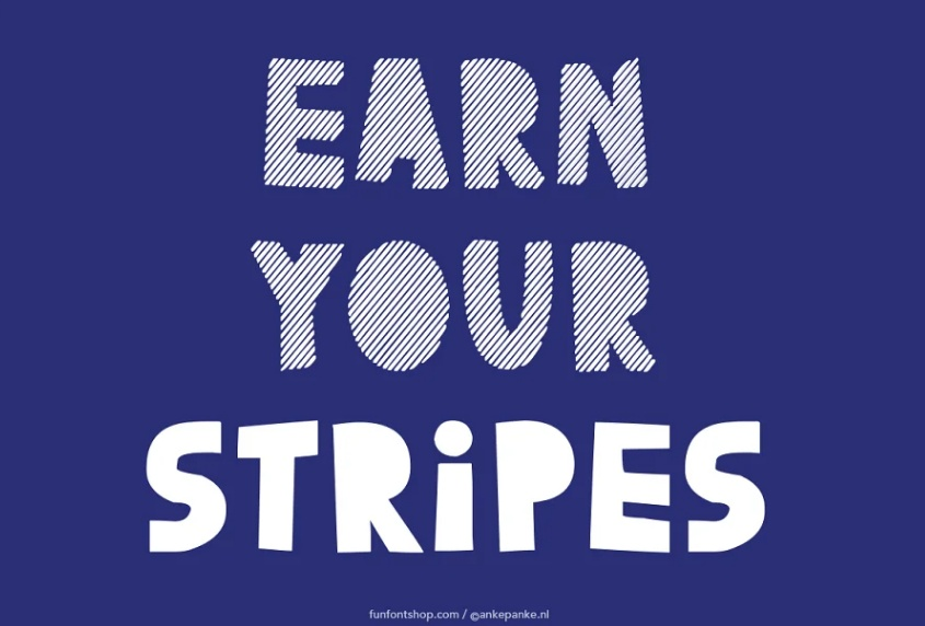 Hand Made Stripe Fonts