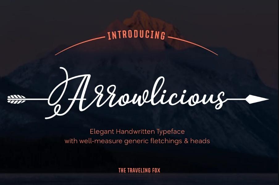Handwritten Arrow Style Fonts