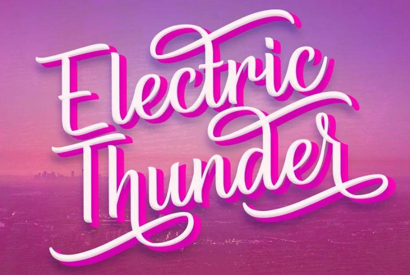 Handwritten Electric Thunder Fonts