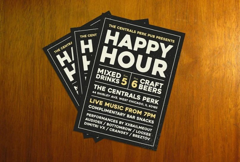 Happy Hour Promotional Templates