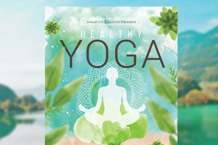 Healthy Yoga Flyer design