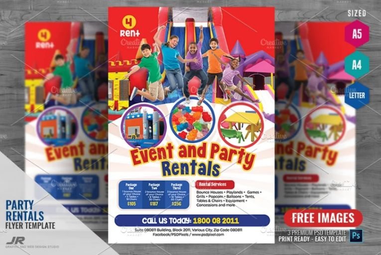High Quality Event Rentals Flyer