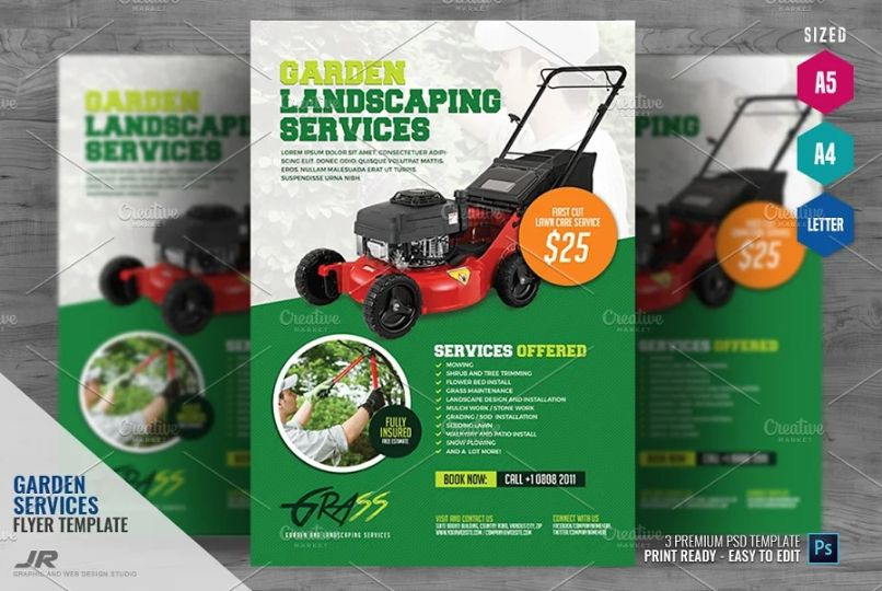 High Quality Landscaping Flyer Templates