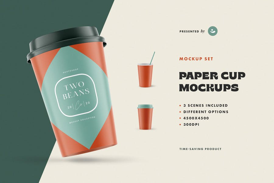 High Quality Paper Cup Mockups