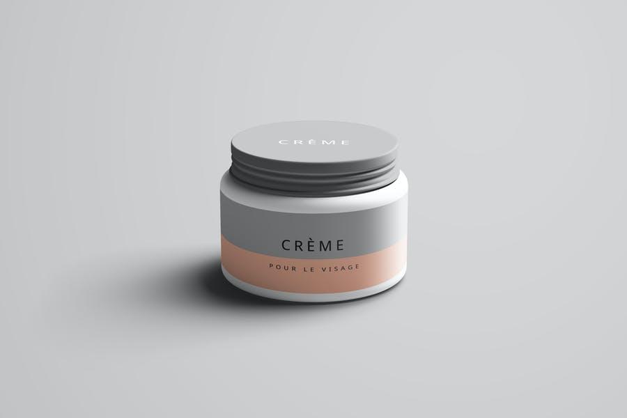 High Resolution Cream Jar Mockup