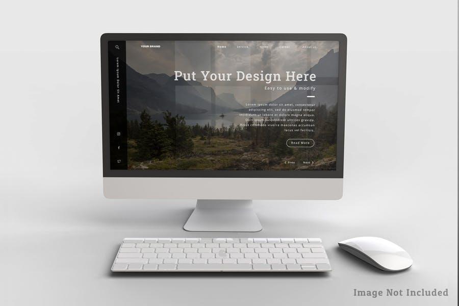 High Resolution Desktop Mockup