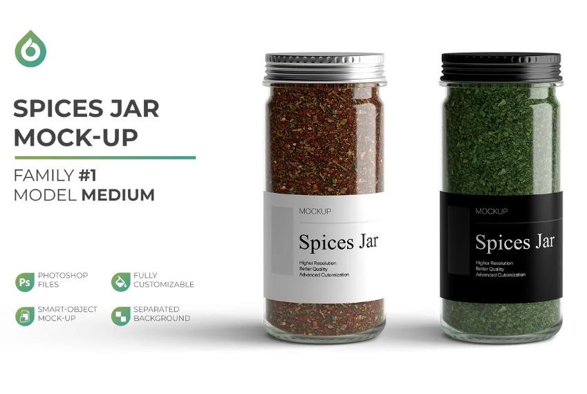 High Resolution Spices jar Mockup