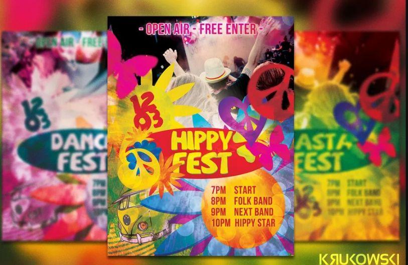 Hippy Festt Flyer Templates