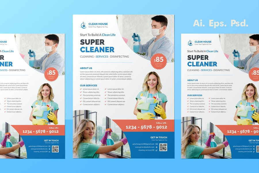 Home Cleaning Promotional Flyer