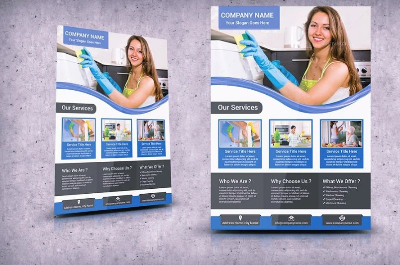 House Cleaning Flyer Template PSD