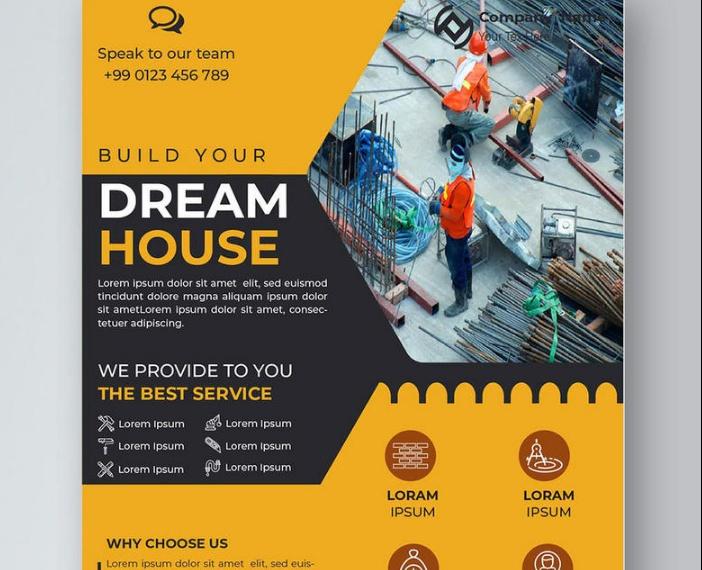 House Construction Flyer