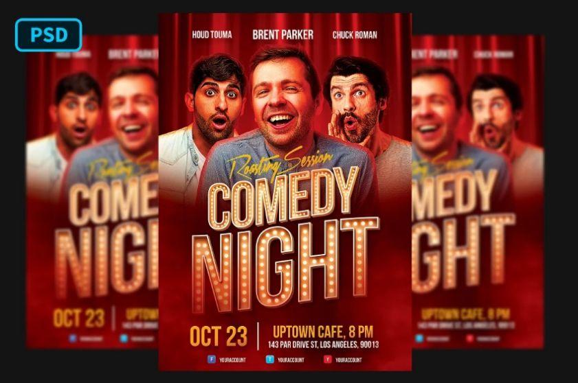 Humor Show Flyer Template