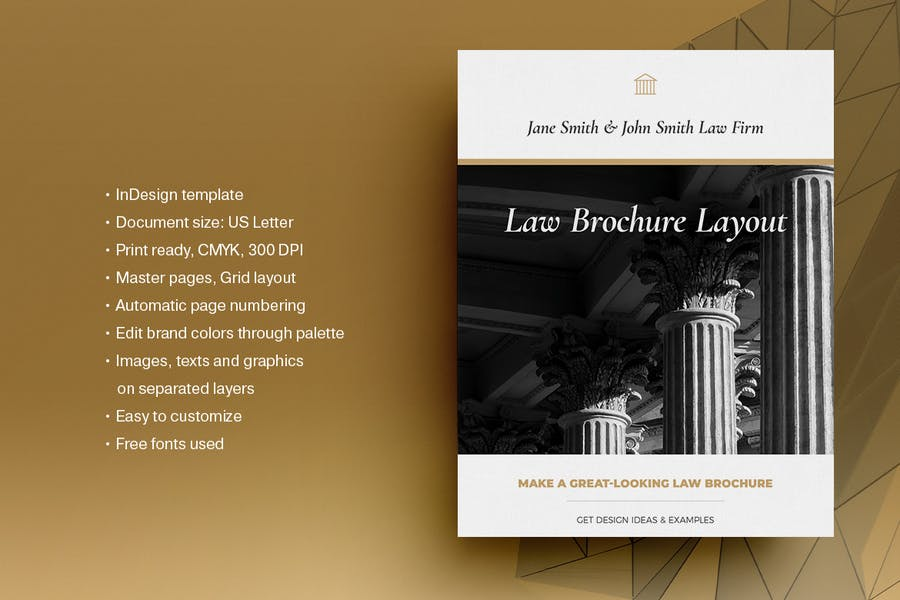 InDesign Law Firm Brochure Templates