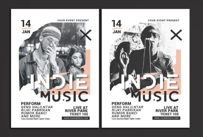 Indie Music Festival Flyers