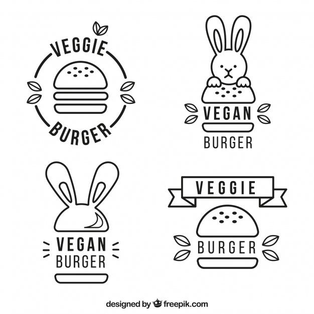 Inline Burger Logo Set